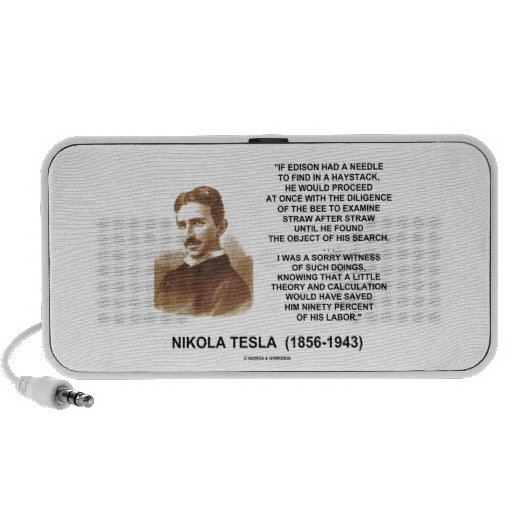 Nikola Tesla Needle In Haystack Theory Calculation iPod Speakers