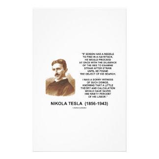 Nikola Tesla Needle In Haystack Theory Calculation Customized Stationery