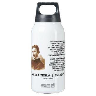 Nikola Tesla Needle In Haystack Theory Calculation Thermos Water Bottle