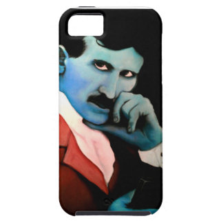 Nikola Tesla on phone iPhone SE/5/5s Case
