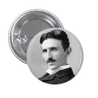 Nikola Tesla Pin Redondo De 1 Pulgada