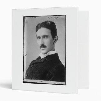 Nikola Tesla Portrait Vinyl Binder