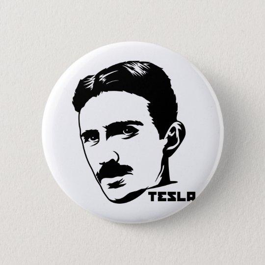 Nikola Tesla Portrait Button