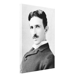 Nikola Tesla Portrait Stretched Canvas Prints