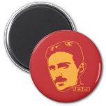 Nikola Tesla Portrait Fridge Magnets