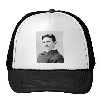 Nikola Tesla Portrait Mesh Hats