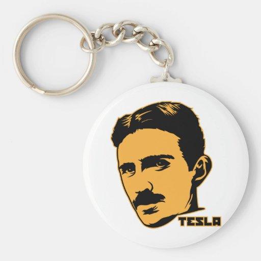 Nikola Tesla Portrait Keychain