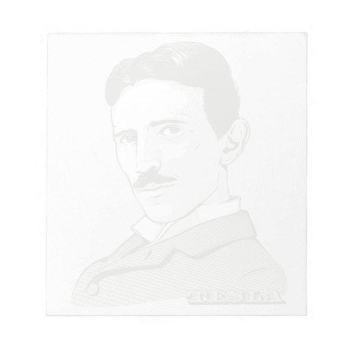 Nikola Tesla Portrait Memo Notepad