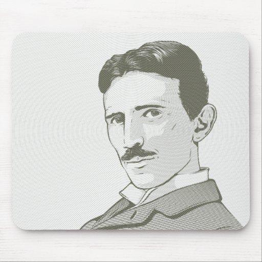 Nikola Tesla Portrait Mouse Pad