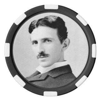 Nikola Tesla Portrait Poker Chips