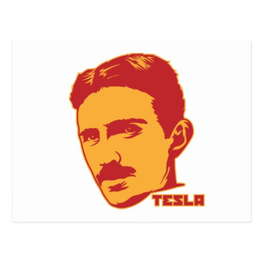 Nikola Tesla Portrait Postcard