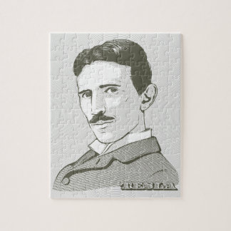 Nikola Tesla Portrait Puzzle