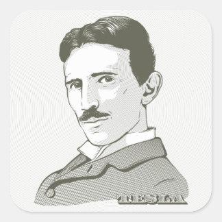 Nikola Tesla Portrait Square Sticker