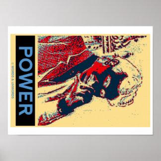 Nikola Tesla Power (Obama-Like Poster) Poster