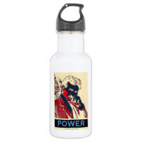 Nikola Tesla Power (Obama-Like Poster) 18oz Water Bottle