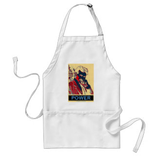 Nikola Tesla Power (Obama-Like Poster) Adult Apron