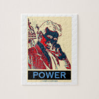 Nikola Tesla Power (Obama-Like Poster) Jigsaw Puzzle