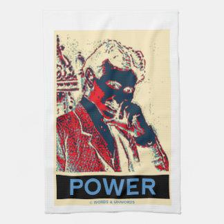 Nikola Tesla Power (Obama-Like Poster) Kitchen Towels