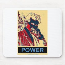 Nikola Tesla Power (Obama-Like Poster) Mousepad