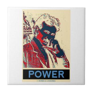 Nikola Tesla Power (Obama-Like Poster) Ceramic Tile