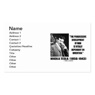 Nikola Tesla Progressive Development Man Invention Business Card
