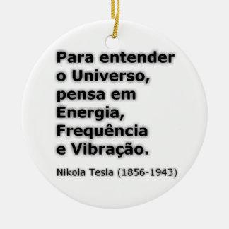 Nikola Tesla pt Ceramic Ornament