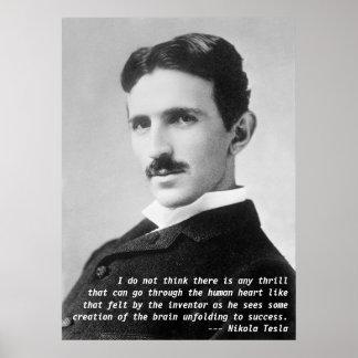 Nikola Tesla Quote Print
