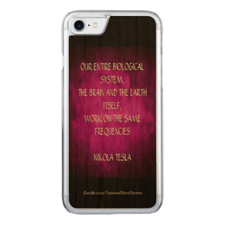 Nikola Tesla Quote - Same Frequencies Carved iPhone 8/7 Case
