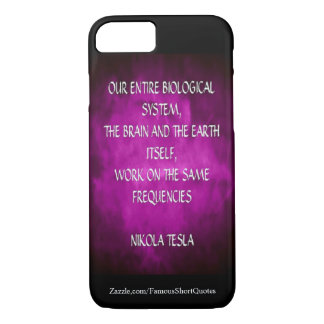 Nikola Tesla Quote - Same Frequencies iPhone 8/7 Case