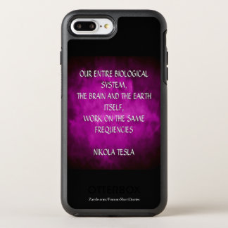 Nikola Tesla Quote - Same Frequencies OtterBox Symmetry iPhone 8 Plus/7 Plus Case