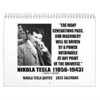 Nikola Tesla Quotes 20XX Calendar