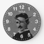 Nikola Tesla Reloj Redondo Grande