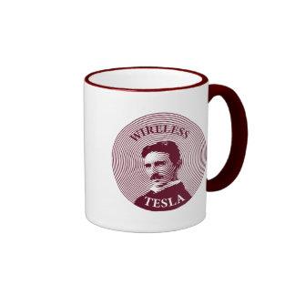 Nikola Tesla Ringer Coffee Mug