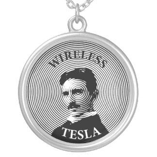 Nikola Tesla Round Pendant Necklace