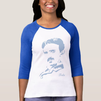 Nikola Tesla Rules! Baby Blue T-Shirt