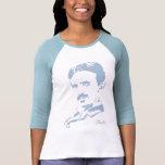 Nikola Tesla Rules! Baby Blue Tee Shirts