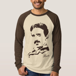 Nikola Tesla Rules! Brown Shirt