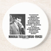 Nikola Tesla Scientific Man Does Not Aim Immediate Coaster