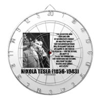 Nikola Tesla Scientific Man Does Not Aim Immediate Dart Board