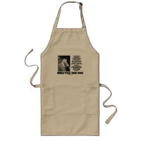 Nikola Tesla Scientific Man Does Not Aim Immediate Long Apron