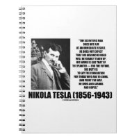 Nikola Tesla Scientific Man Does Not Aim Immediate Note Books