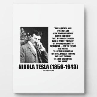 Nikola Tesla Scientific Man Does Not Aim Immediate Plaque