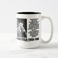 Nikola Tesla Scientific Man Does Not Aim Immediate Two-Tone Coffee Mug