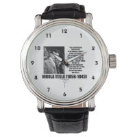 Nikola Tesla Scientific Man Does Not Aim Immediate Wrist Watch
