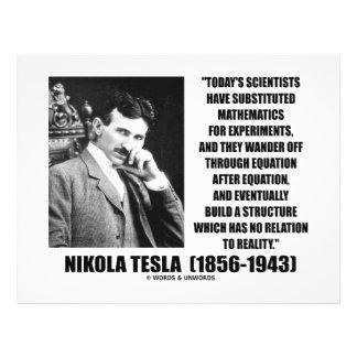 "Nikola Tesla Scientists Equation No Relation Quote 8.5"" X 11"" Flyer"