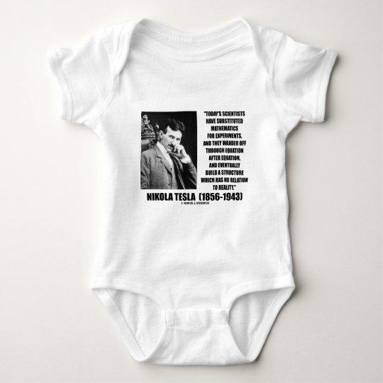 Nikola Tesla Scientists Equation No Relation Quote Baby Bodysuit