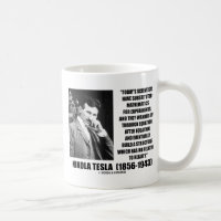 Nikola Tesla Scientists Equation No Relation Quote Classic White Coffee Mug