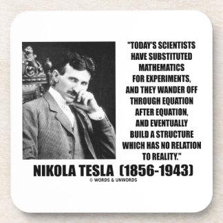 Nikola Tesla Scientists Equation No Relation Quote Coaster