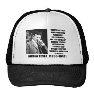 Nikola Tesla Scientists Equation No Relation Quote Trucker Hats