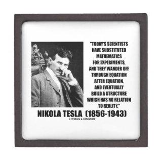 Nikola Tesla Scientists Equation No Relation Quote Jewelry Box